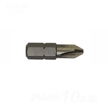 史丹利 6.3MM系列十字旋具头PH2x25mm(x10),63-023T-23