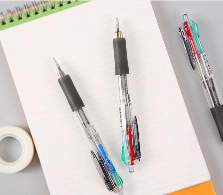 晨光(M&G)BP8030办公多功能按动四色圆珠笔油笔0.7mm12支装 黑蓝红绿色