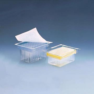 BRAND预装滤芯吸头,Tip-Rack,PP材质/PE材质滤芯,2-20µl,未灭菌,符合IVD标准,96个/盒,10盒/箱