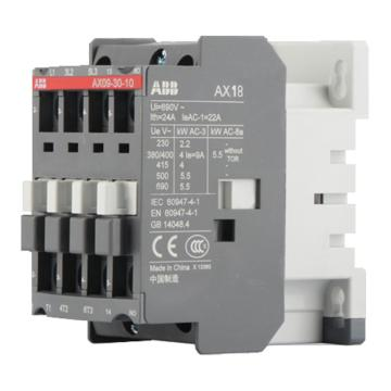 ABB 接触器,AX18-30-10(AC220-230V50HZ/AC230-240V60HZ)
