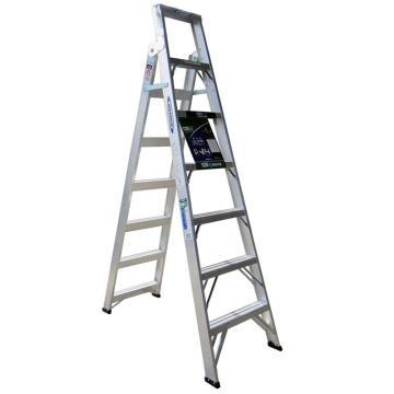 稳耐 铝合金两用梯,踏台数:7,额定载荷(KG):120,工作高度(米):1.5,DP367CN