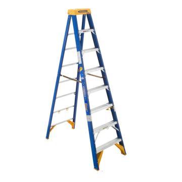 稳耐 电工工作站人字梯,踏台数:8,额定载荷(KG):170,工作高度(米):1.8,耐压(KV):35,OBEL08