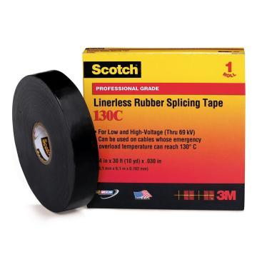3M 电工胶带,Scotch130C 黑 25.4mm×9.1m