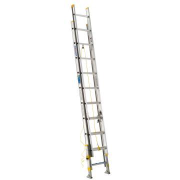 稳耐 2节延伸梯(带平衡器),踏台数:20,额定载荷(KG):102,工作高度(米):4.3,D1720-2EQ