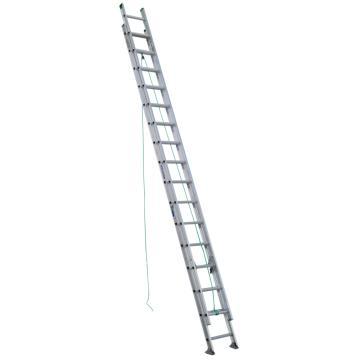 稳耐 D形踏棍2节延伸梯,踏台数:32,额定载荷(KG):102,工作高度(米):7.9,D1232-2