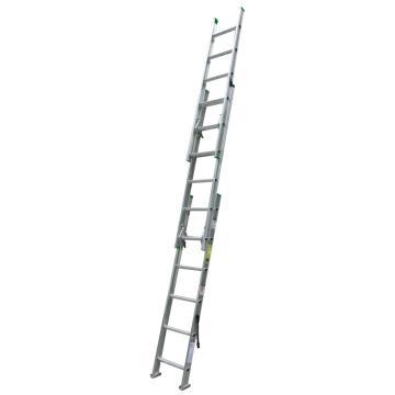稳耐 D形踏棍3节延伸梯,踏台数:18,额定载荷(KG):102,工作高度(米):3.1,D1216-3