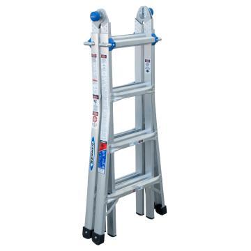 稳耐 伸缩式多功能梯,踏台数:8,额定载荷(KG):136,工作高度(米):0.6~1.5,MT-17CN