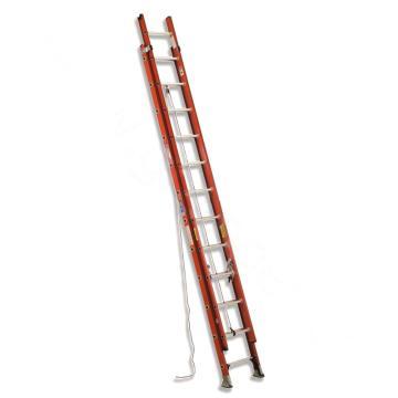 稳耐 D型踏棍绝缘2节延伸梯,踏台数:24,额定载荷(KG):136,工作高度(米):5.5,耐压(KV):35,D6224-2