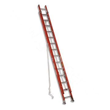 稳耐 D型踏棍绝缘2节延伸梯,踏台数:28,额定载荷(KG):136,工作高度(米):6.7,耐压(KV):35,D6228-2
