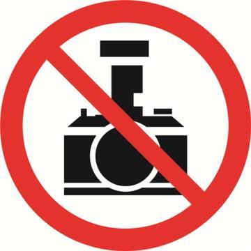 禁止拍照,铝板覆反光贴膜,背后带铝槽,直径600mm