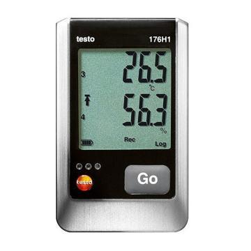 德图/Testo testo 176 H1温湿度记录仪 4通道 需另配连接2个温湿度探头(NTC/电容式湿度传感器)