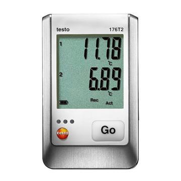 德图/Testo testo 176-T2温度记录仪,配有2个外接Pt100温度探头接口