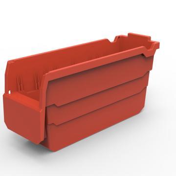 货架物料盒,不含分隔片,SF3115-红,300*100*150,20/箱