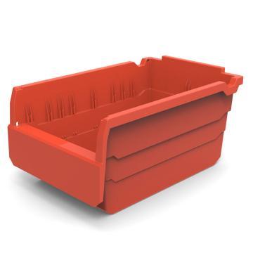 货架物料盒,不含分隔片,SF3215-红,300*200*150,20/箱