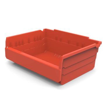 力王 货架物料盒,300*400*150mm,全新料,5个/箱,不含分隔片,SF3415-红色