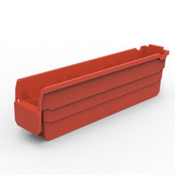 货架物料盒,不含分隔片,SF5115-红,500*100*150,5/箱