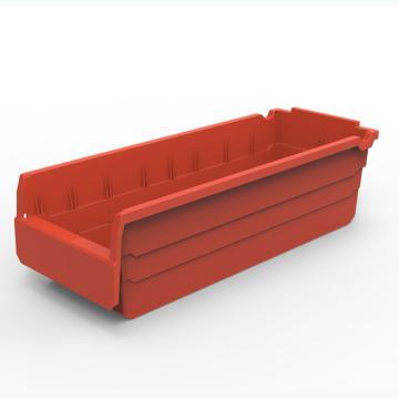 货架物料盒,不含分隔片,SF5215-红,500*200*150,5/箱