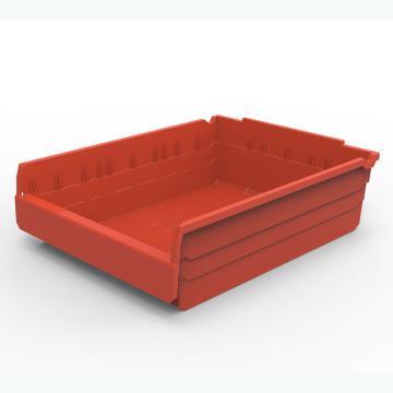 力王 货架物料盒,500*400*150mm,全新料,5个/箱,不含分隔片,SF5415-红色