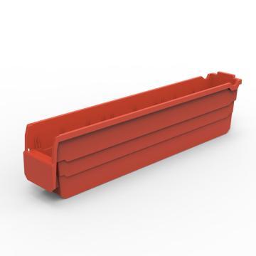 货架物料盒,不含分隔片,SF6115-红,600*100*150,10/箱