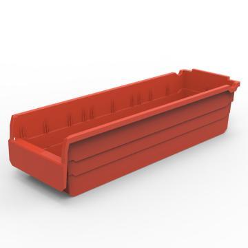 货架物料盒,不含分隔片,SF6215-红,600*200*150,10/箱