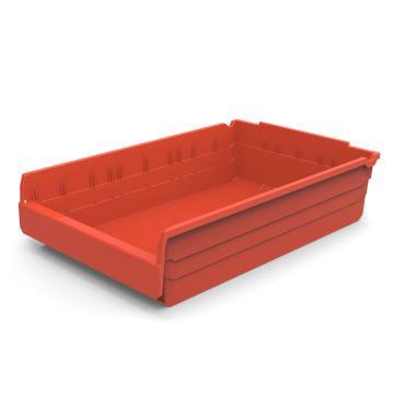 力王 货架物料盒,600*400*150mm,全新料,5个/箱,不含分隔片,SF6415-红色