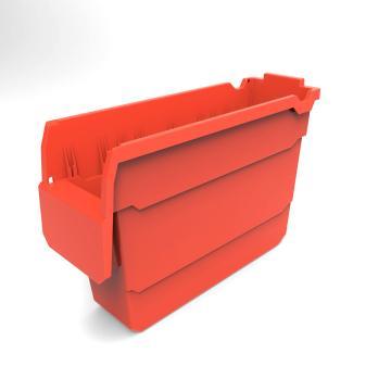 货架物料盒,不含分隔片,SF3120-红,300*100*200,20/箱
