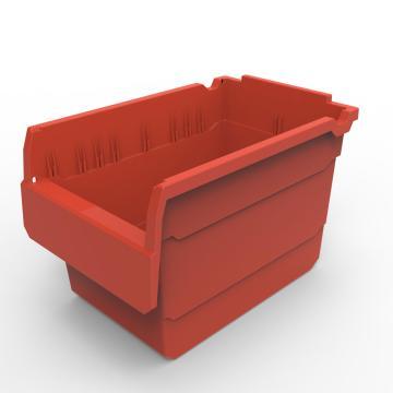 力王 货架物料盒,300*200*200mm,全新料,10个/箱,不含分隔片,SF3220-红色
