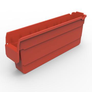 货架物料盒,不含分隔片,SF5120-红,500*100*200,5/箱