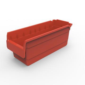货架物料盒,不含分隔片,SF5220-红,500*200*200,20/箱