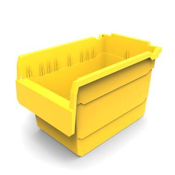 力王 货架物料盒,300*200*200mm,全新料,10个/箱,不含分隔片,SF3220-黄色