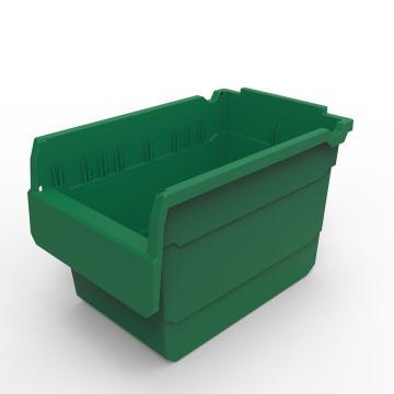 力王 货架物料盒,300*200*200mm,全新料,10个/箱,不含分隔片,SF3220-绿色