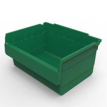 力王 货架物料盒,300*400*200mm,全新料,5个/箱,不含分隔片,SF3420-绿色