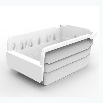 货架物料盒,不含分隔片,SF3215-白,300*200*150,20/箱