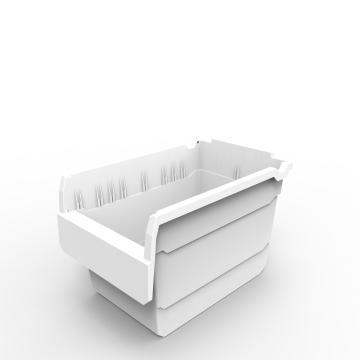 力王 货架物料盒,300*200*200mm,全新料,10个/箱,不含分隔片,SF3220-白色