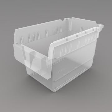 力王 货架物料盒,300*200*200mm,全新料,10个/箱,不含分隔片,SF3220-透明