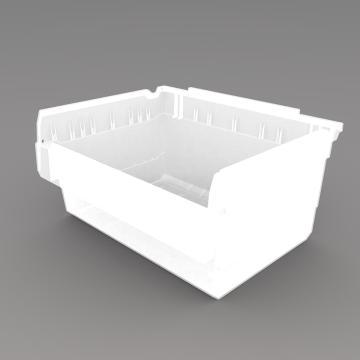 力王 货架物料盒,300*400*200mm,全新料,5个/箱,不含分隔片,SF3420-透明