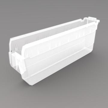 力王 货架物料盒,500*100*200mm,全新料,20个/箱,不含分隔片,SF5120-透明