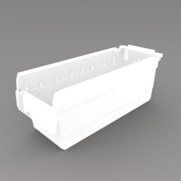 力王 货架物料盒,500*200*200mm,全新料,10个/箱,不含分隔片,SF5220-透明