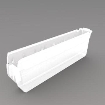 力王 货架物料盒,600*100*200mm,全新料,20个/箱,不含分隔片,SF6120-透明