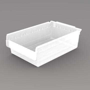 力王 货架物料盒,600*400*200mm,全新料,5个/箱,不含分隔片,SF6420-透明