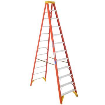 稳耐 绝缘单侧人字梯,踏台数:12,额定载荷(KG):136 ,工作高度(米):3.1,6212CN