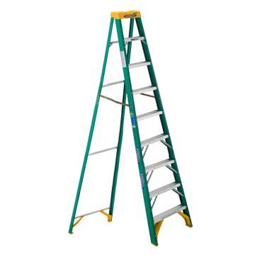 稳耐 绝缘单侧人字梯,踏台数:9,额定载荷(KG):102,工作高度(米):2.1,耐压(KV):35,5909CN