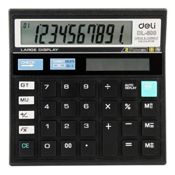 得力查数型计算器,黑色  DL-500