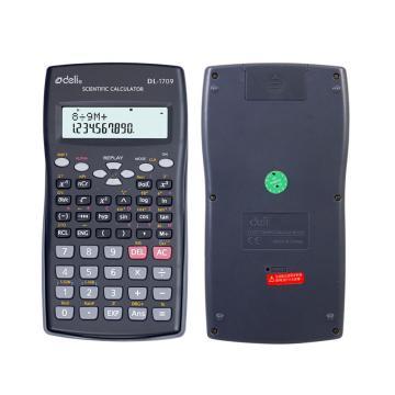 得力函数型计算器,深灰色  1709