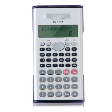 得力函数型计算器,银白色  1708