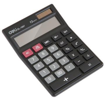 得力桌上型计算器,黑色  1667