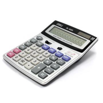 得力桌上型计算器,灰色  1655