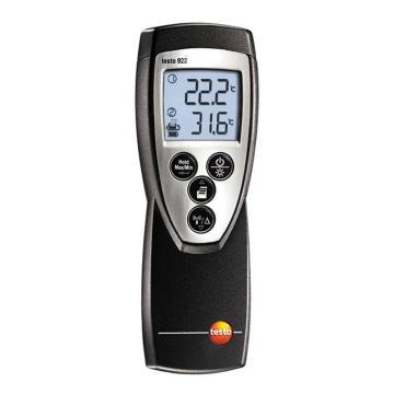 德图/Testo testo 922 2通道温度仪, K型热电偶探头需另配,订货号:0560 9221