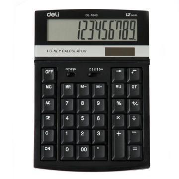 得力桌上型计算器,颜色随机  1640