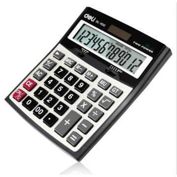 得力桌上型计算器,黑色  1632